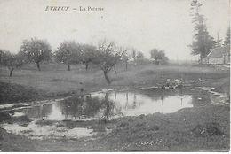 EVREUX  CARTE INEDITE ! LA POTERIE LAVANDIERES EN ACTION POSTEE EN 1914 - Evreux