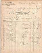Facture  Commerciale Ancienne / Châles ,Soieries / Ad GUILLERMET & Cie/ LYON/Mézin/St Jean Du Gard//1893   FACT306 - Textile & Vestimentaire