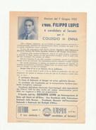 7517.   Elezioni Del 7 Giugno 1953 Avv. Filippo Lupis  Candidato Al Senato Collegio Di Enna - Old Paper