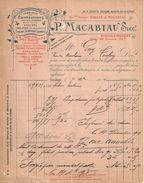 Facture  Commerciale Ancienne /Confection -Bas & Chauss/ P MACABIAU Succ/TOULOUSE/Gay/Toulon/1904   FACT307 - Textile & Vestimentaire