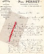 36- CHATEAUROUX- RARE LETTRE MANUSCRITE SIGNEE PAUL PERRET - 23 RUE LEDRU ROLLIN-1910- RAFFINERIE LEBAUDY FRERES PETROLE - Petits Métiers