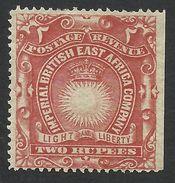British East Africa, 2 R. 1890, Sc # 27, Mi # 18A, MH. - Kenya, Uganda & Tanganyika
