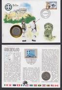 Numisbrief United Nation Griechenland 1988 Mit Münze 10 Drachme 1986 - [ 7] 1949-… : RFA - Rép. Féd. D'Allemagne
