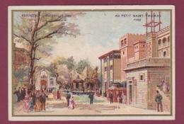 070118 CHROMO MAISON DU PETIT ST THOMAS PARIS - Exposition Universelle 1889 PANORAMA POILPOT LACUSTRE Maisons égyptienne - Autres