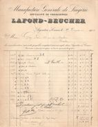 Facture  Commerciale Ancienne /Manufacture Générale De Lingerie/LAFOND-BEUCHER/Argenton Sur Creuse/Indre/1904   FACT308 - Textile & Vestimentaire