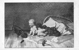 CPA. PUB.   CHOCOLAT LOUIT. ENFANT. 4 CHIENS DOG TECKEL - Honden