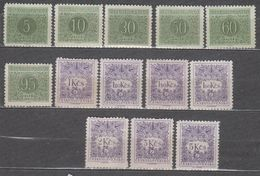 Czechoslovakia 1954 Y&T # 79-91 A Taxes MNH * * See The Scans Pls. - Segnatasse