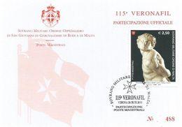 SMOM 2010 Marble Sculpture Michelangelo Card - Sovrano Militare Ordine Di Malta