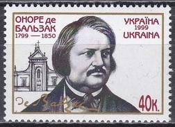 Ukraine 1999 Geschichte Persönlichkeiten Kunst Kultur Literatur Schriftsteller Honoré De Balzac, Mi. 305 ** - Ukraine