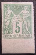 Lot R1597/107 - SAGE Type II N°106d BdF ☛ Timbre Signé BRUN Expert - NEUF* - BdF - NON DENTELE - Cote : 100,00 € - 1876-1898 Sage (Type II)