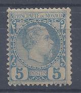 MONACO - 1885 - N° 3 - Neuf - X - Avec Trace De Charnière - B/TB - Cote 103 € - Monaco