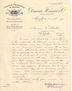 Lettre  Commerciale Ancienne /Installation Et Transformation De Moulins/DAVERIO HENRICI & Cie/Marseille/1912   FACT317 - France