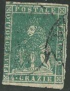1857 - TOSCANA - 4 CRAZIE - 14a - USATO - SIGNED -  EURO 300,00 - Toscana