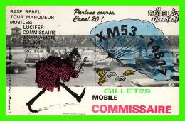 CARTES QSL - REBEL SPEEDWAY, GRANBY, QUÉBEC - MOBILE COMMISSAIRE No XM53-14817 - - Radio Amateur