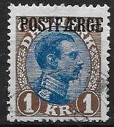 Danemark 1921 N° 152 Oblitéré Surchargé Postfaerge - 1913-47 (Christian X)
