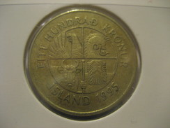 100 Kr 1995 Fish ICELAND Islande Coin - Iceland