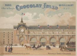 Chromos - Paris Exposition Universelle 1900 - Publicité Chocolat Ibled Mondicourt - Nouvelle Gare D'Orléans - Ibled