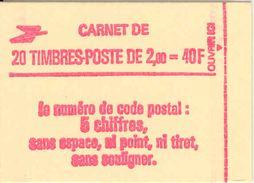 FRANCE - BOOKLET / CARNET, Yvert 2274-c4, 1983, 20 X 2.00 Liberté De Delacroix Red - Carnets