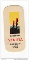CARTE PARFUM VENITIA ANCIENNE CHERAMY PARIS - Antiquariat (bis 1960)