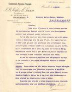 Lettre Commerciale Ancienne/Semoules Farines Grains/JB REGLI & M LACROIX/MARSEILLE/Malbec/Casteljaloux/1916  FACT312 - France