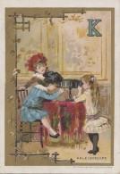 Chromos - Fin XIXème - Enfants Jeux - Alphabet - Lettre K - Kaléidoscope - Chromos