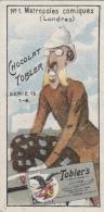 Chromos - Chromo - Chocolat Tobler - Caricature - N° 1 Métropoles Comiques Londres - Cycliste Colonial Dents - Cioccolato