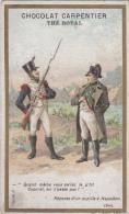 Chromos - Chocolat Carpentier Thé Royal - Histoire - Napoléon Bonaparte - Militaria - 1805 - Cioccolato