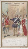Chromos - Chocolat Carpentier Thé Royal - Histoire - Henri IV - Crillon - Victoire Arques 1589 - Cioccolato