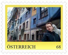 0055: RRR- Kleinauflage Hieronymus Vor Dem Hundertwasserhaus 20 Stck. Auflage - Timbres Personnalisés