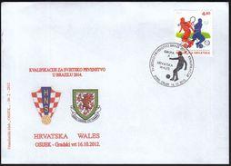 Croatia Osijek 2012 / Football / FIFA World Cup Brasil 2014 / Qualifications Group A, Croatia - Wales - Wereldkampioenschap