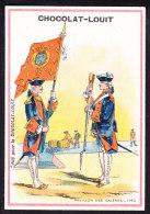 CHROMO Chocolat LOUIT Frères  Pavillon De  Galeres 1740       Flags - Louit