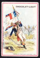CHROMO Chocolat LOUIT Frères  Drapeau De 1er Bataillon D'infanterie  1790       Flags - Louit