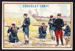 CHROMO Chocolat LOUIT Frères    Le Tir  Armee Soldats  Soldiers Army Militaires - Louit