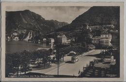 Lugano-Paradiso Col Mte Generoso - Tram - Photo: Ditta G. Mayr No. 754 - TI Tessin
