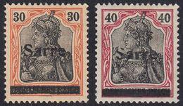 SAAR - SARRE - 1920 - Lotto Due Valori Nuovi MH Yvert 10 E 12. - Nuovi