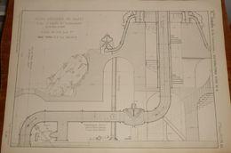Plan D'un Puits Artésien à Passy. 1857. - Public Works