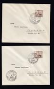 DR 2 Briefe Mit EF 651 Sonderstempel Frankfurt Main Und Chemnitz K765 - Deutschland