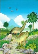 Illustration R. Zamani - Saurier, Dinosaures - Carte Non Circulée - Illustrateurs & Photographes