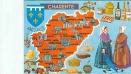 Carte Géographique -  Departement De La Charente         AX1562 - Carte Geografiche