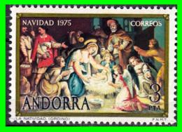 ANDORRA CORREO ESPAÑOL  SELLO  NAVIDAD  AÑO 1975 VALOR  3 Ptas. NUEVO CON GOMA SIN CHANELA - Nuevos
