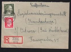 DR Einschreiben Krankenkasse 1944 Wildenbach Kr Welun Wartheland Nach Ostrowo K774 - Deutschland