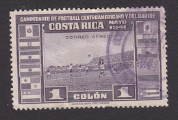 Costa Rica, Scott #C63, Used, Soccer, Issued 1941 - Costa Rica