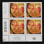2018  CANADA YEAR OF THE DOG    LL BLOCK   MNH - Blocs-feuillets