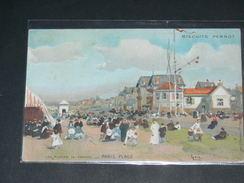 LE TOUQUET PARIS PLAGE    1910  PUBLICITE BISCUIT PERNOT    CIRC  EDIT - Le Touquet