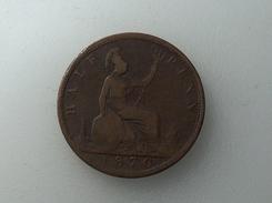UK 1/2 PENNY 1870 HALF GRANDE BRETAGNE - 1816-1901 : Frappes XIX° S.