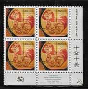 2018  CANADA YEAR OF THE DOG    LR BLOCK   MNH - Blocs-feuillets