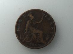 UK 1/2 PENNY 1889 HALF GRANDE BRETAGNE - 1816-1901 : Frappes XIX° S.
