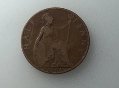 UK 1/2 PENNY 1906 HALF GRANDE BRETAGNE - 1902-1971 : Monnaies Post-Victoriennes