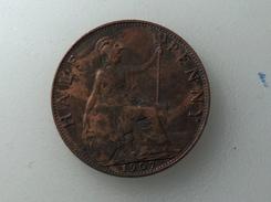 UK 1/2 PENNY 1907 HALF GRANDE BRETAGNE - 1902-1971 : Monnaies Post-Victoriennes