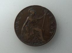 UK 1/2 PENNY 1908 HALF GRANDE BRETAGNE - 1902-1971 : Monnaies Post-Victoriennes